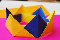 Welcome to our chanel where you can learn how to make different origami objects with your own hands. Origami Modular, Origami Easy, Origami Crown, Paper Crowns, Little Dragon, Oragami, Paper Size, Paper Art, Activities For Kids