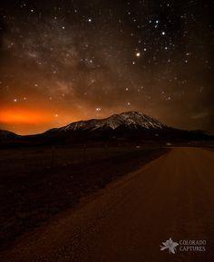 Spanish Peaks Road To A Cloud Veiled Milky Way