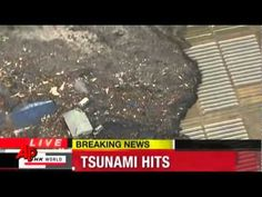 ▶ unnaturally moving object At the crest of the tsunami wave Japan 11 03 2011.flv - YouTube