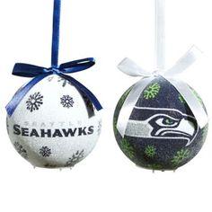 af45d853b NFL Seattle Seahawks LED Lighted Christmas Ornament Set (Set of 6) Christmas  Ornament Sets