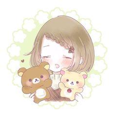 Cute Anime Chibi, Kawaii Chibi, Kawaii Cute, Kawaii Anime Girl, Cute Panda Wallpaper, Kawaii Wallpaper, Kawaii Drawings, Cute Drawings, Blonde Anime Girl