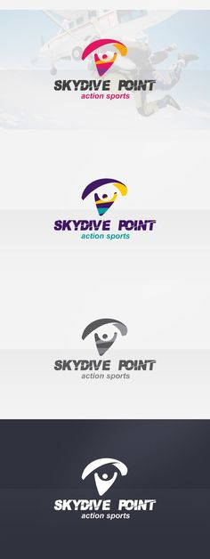 Skydive & Paragliding Logo. Photoshop Actions. $29.00