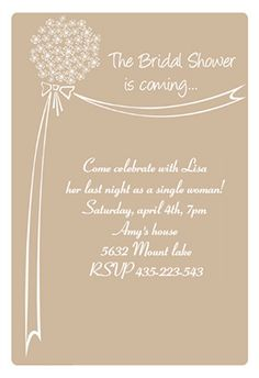 """""""Bridal shower is coming"""" printable invitation. Customize, add text and photos. print for free!"""