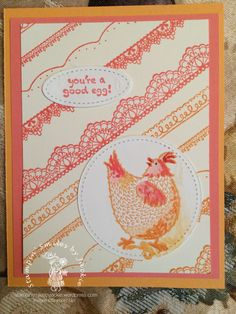 Hey Chick on Wearing Beakstick  | Stampin' Smiles by Jackie