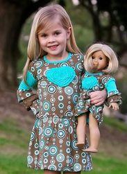 Trish Scully Child Circle Safari Bubble Hem Heart Dress-Designer Girl Clothes only $44.00 - New Items