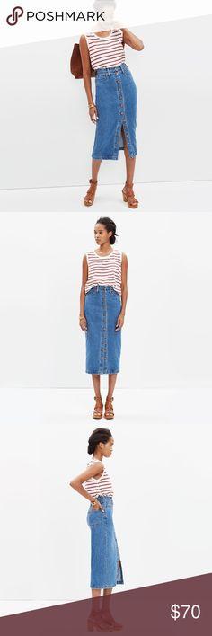 Madewell midi jean skirt Madewell midi jean skirt Madewell Skirts Midi