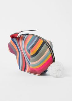Women's 'Swirl' Print Rabbit Make-Up Bag - Paul Smith