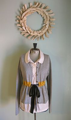H is for Handmade: Belted Cardigan Make Over - Tutorial