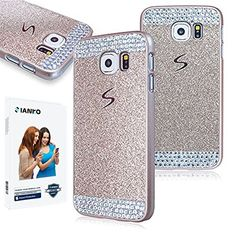 Galaxy S6 edge Case , iAnko Luxury Bling Rhinestone Diamond Crystal Glitter Hard PC Case Cover Shell Phone Case for Samsung Galaxy S6 edge (Gold (Hard Case) iAnko http://www.amazon.com/dp/B00XR0BYMI/ref=cm_sw_r_pi_dp_4FYOvb07627BH