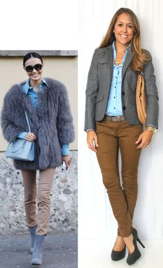 J's Everyday Fashion provides outfit ideas, budget fashion, shopping on a budget, personal style inspiration, and tips on what to wear. Blue Shirt Outfits, Fall Outfits, Guy Outfits, Work Outfits, Js Everyday Fashion, Daily Fashion, Fashion Books, Fashion Pics, Brown Pants