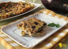 Frittata con melanzane e basilico, ricetta buffet. Ricetta facile per una frittata leggera e gustosa, da fare in padella o al forno, perfetta per picnic
