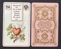 Antique Dondorf Lenormand Fortune Telling Oracle Cards Deck 1911 Vintage | eBay