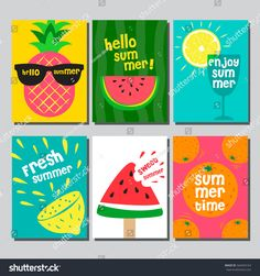 Find Summer Layout Design Greeting Card Cover stock images in HD and millions of other royalty-free stock photos, illustrations and vectors in the Shutterstock collection. Notebook Cover Design, Diy Notebook, Cute Canvas Paintings, Diy Canvas Art, Summer Painting, Diy Painting, Summer Poster, Art Diy, Book Design Layout