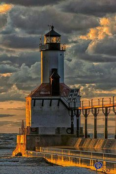 Lighthouse in Michigan City, Indiana USA☀