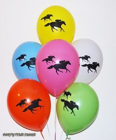 Horse Race Racing Latex Balloons