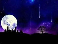 falling stars moon