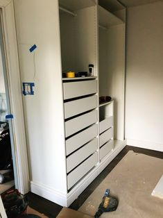 IKEA PAX hack: Hands down the most stunning walk-in closet A password will be e-mailed to you.IKEA PAX hack: Hands down the most stunning walk-in closetAfter getting stuck on an image of a blue, cust Walk In Closet Ikea, Ikea Closet Hack, Closet Hacks, Build A Closet, Closet Ideas, Closet Organization, Master Closet Design, Master Bedroom Closet, Closet Renovation