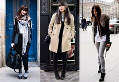 Flawlessly French...Paris winter fashion. Tres Chic <3