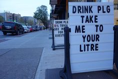 Clever promotions entertain and attract customers #munchmath #tutoring #Brooklyn #drinkplg #metric