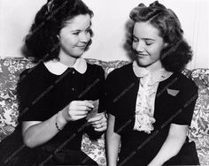 candid Shirley Temple and her stand-in at MGM 563-26