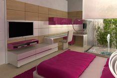 DORMITORIO JUVENIL FUCSIA Y BLANCO dormitorios.blogspot.com
