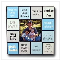 Personalized frame describing dad.  A great gift idea for a birthday or Father's Day.  www.outoftheboxshop.com