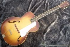 One of the largest-selling Silvertone archtops ever, he Kay-built model 619.
