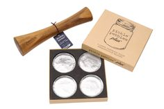Pebbles & Packer Fermentation Tool Set - Glass Weights and Vegetable Tamper for wide mouth mason jars by Masontops