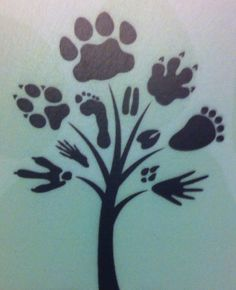 This is the tattoo I would like to have with some changes to the paw prints. Maybe a horse hoof print.