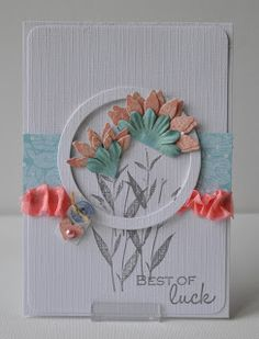 SCRAPPIETOO: small petals on the outside of a circle frame white on white cardstock