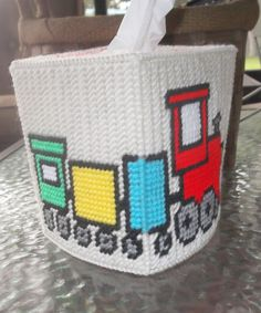 A personal favorite from my Etsy shop https://www.etsy.com/listing/255505547/choo-choo-tissue-box-cover