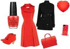 """""""OPI - My Paprika Is Hotter Than Yours outfit"""" by timea-z on Polyvore"""