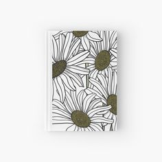 'Vase of Daisies' Hardcover Journal by PounceBoxArt Journal Design, Canvas Prints, Art Prints, Free Stickers, Sticker Paper, Iphone Wallet, Notebooks, Minimalism, Daisy