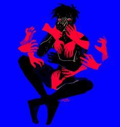Dysphoria, by Wilt King Arte Horror, Horror Art, Dark Art Illustrations, Illustration Art, Pretty Art, Cute Art, Character Art, Character Design, Trans Art