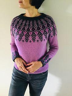Ravelry: Goldwing pattern by Jennifer Steingass Fair Isle Knitting Patterns, Sweater Knitting Patterns, Lace Knitting, Knitting Stitches, Knitting Designs, Knit Crochet, Nordic Sweater, Dk Weight Yarn, Tejidos