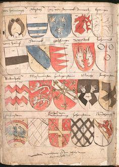 Wernigeroder (Schaffhausensches) Wappenbuch Süddeutschland, 4. Viertel 15. Jh. Cod.icon. 308 n  Folio 257v