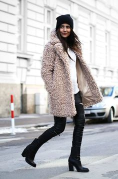 Sarah Teddy Fur Oversized Coat   / boohoo.com