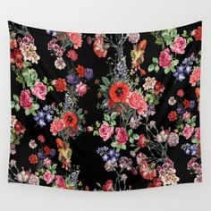 Botanic Pattern Wall Tapestry