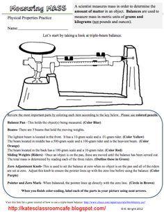 Triple Beam Balance Worksheet | lesson plan | Pinterest ...
