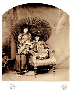 Lewis Carroll, Lorina and Alice Liddell in Chinese Dress, spring 1860