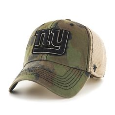 New York Giants Burnett Clean Up Frontline Green Camo 47 Brand Adjustable Hat  New York Giants a7a860f5f47