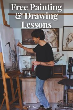 Learn to paint and draw with our collection of art tutorials for peoplpe of all skill levels. #arttutorials #drawinglessons #paintinglessons #paintingbeginner #howtopaint #howtodraw #drawing #painting #oilpainting #acrylicpainting #watercolorpainting
