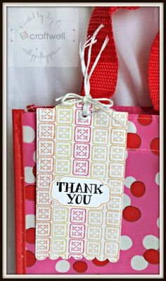 Thank you Tag with Avery Elle Stamps! #gifttag #ebosser #averyellestamps