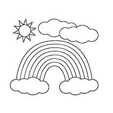 how to draw a sun and clouds