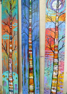 Update on what I'm working on in the studio - Art by Lindy Rustic Painting, Wood Painting Art, Wood Art, Garden Fence Art, Wood Butterfly, Fused Glass Art, Leaf Art, Elements Of Art, Hanging Wall Art