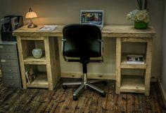Pine Fixed Computer Desks Furniture Teen Bedroom, Bedroom Decor, Bedroom Ideas, Handmade Desks, Pedestal Desk, Industrial Desk, Reclaimed Timber, Home Projects, Wood Crafts