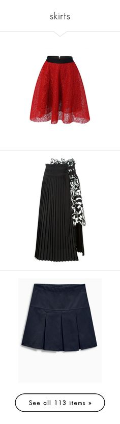 """""""skirts"""" by susans-sg ❤ liked on Polyvore featuring skirts, red lace skirt, red skater skirt, circle skirt, red skirt, high waisted skirts, black, floral skirt, high-waist skirt and layered lace skirt"""