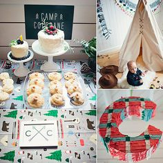 A Modern Camp First Birthday Party