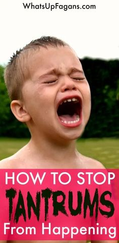 5 parenting tips on how to stop temper tantrums in toddlers and preschoolers. Prevention is much easier to do than calming them! Parenting Articles, Parenting Books, Good Parenting, Parenting Classes, Parenting Memes, Parenting Styles, Toddler Behavior, Toddler Discipline, Bed Wetting