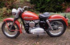 harley-davidson khk | It was all together, 56 engine but late 55 frame, so no goose neck, go ...